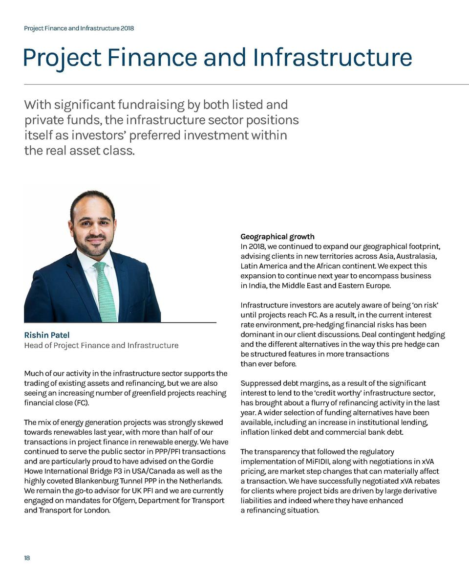 Project Finance and Infrastructure 2018  Project Finance and Infrastructure 2018  Project Finance and Infrastructure With ...