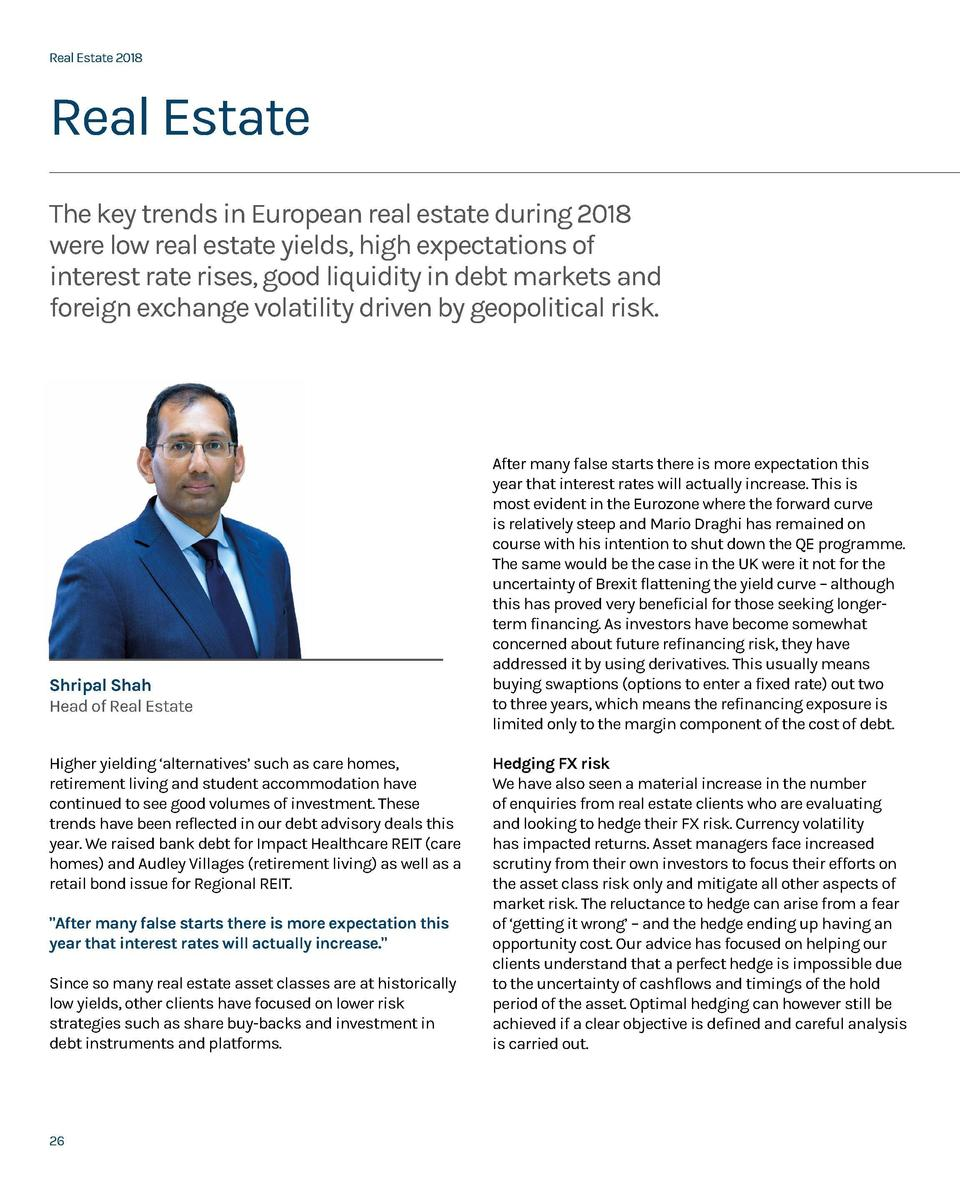 Real Estate 2018  Real Estate 2018  Real Estate The key trends in European real estate during 2018 were low real estate yi...